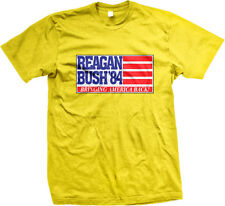Reagan Bush '84 Bringing America Back Retro Campaign Slogan Mens T-shirt