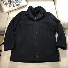 Mens HUGO BOSS Cashmere Wool Coxtan Over Coat Luxury Winter Jacket Black - XL/52