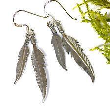 sehr schöne Ohrhänger 925 Silber Adlerfeder Schamanen Kelten Klarheit Freiheit