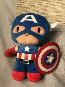 Captain America With Shield 9in Stuffed/Plush Avenger, Marvel Universal Studios