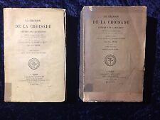 La chanson de la croisade contre les Albigeois-Meyer XIXème 2 vols livre ancien