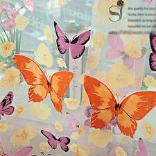 Charm Schmetterling Printed Tüll Voile Tür Fenster Balkon Sheer Schirm Vorhang