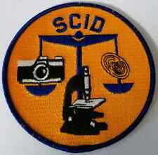SCID State Criminal Investigation Department Cloth Patch