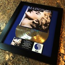 Madonna True Blue Platinum Disc Record Album Music Award MTV Grammy RIAA