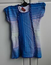 AGE 4 - MISSONI BLUE, WHITE & PURPLE KNITTED CAP SLEEVED DRESS