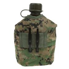 1L WATER BOTTLE CANTEEN+ CUP+ POUCH SET ARMY MILITARY CAMPING JUNGLE DIGITAL