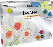 Set Seidenmalerei mit Seidenmalfarbe Konturenfarbe Gutta Pinsel Seide Vorlagen