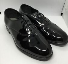 BARCLAY Mens Size 10 .5W Black Faux Patent Leather Formal Dress Shoes