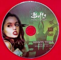 BUFFY THE VAMPIRE SLAYER Third Season 3 Three Disc 5 Five - Replacement DVD Only
