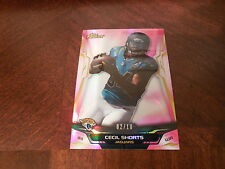 2014 Topps Finest Cecil Shorts Base Card # 44 Pink BCA Refractor 02/10