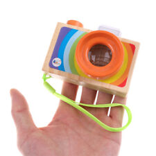Kids Wooden Toys Camera Kaleidoscope Educational Magic Kaleidoscope Children FT