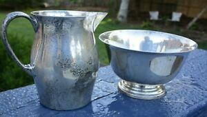 Sterling Silver Reed & Barton Paul Revere Miniature creamer and sugar bowl