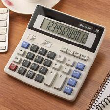 Dual Power Desktop Calculator Basic 12 Digit Large Display For Office Business