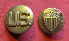 WWII US ARMY ADJUNTANT GENERAL'S DEPARTMENT ENLISTED COLLAR DISC SET