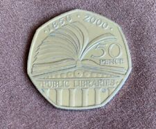 Public Libraries 2000 Royal Mint Rare 50p Fifty Pence Coin Hunt Collectible