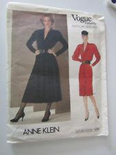 Vogue Ladies Dresses Sewing Pattern by Designer Anne Klein size 14