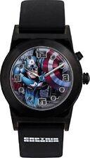 Marvel Boys Kids Captain America Flashing Light Wrist Watch Black