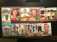 TOPPS 1960'S 17 BASEBALL CARDS NO CREASES EX-EX+ W/MATTY ALOU,JIM COKE-FREE SHIP