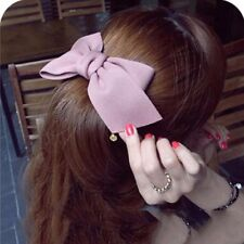 Big Cloth Bow Hair Clip Accessories Women With Gold Blue Brown