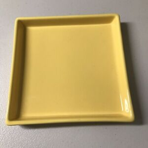 Crate and Barrel CB2 Square Bento Lunch Dinner Plate Yellow 8.0""
