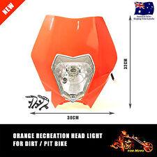 Headlight Dual Sport KTM EXC MXC LC4 520 525 450 MX Supermoto Dirt Bike Orange