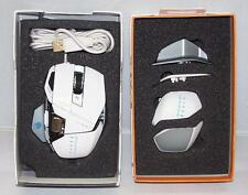 Mad Catz Cyborg R.A.T. 7 RAT Laser Gaming Mouse 6400 dpi for PC Mac Gloss White