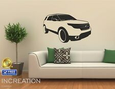 Ford Explorer SUV Gift for fan ply room Wall Decor Vinyl Sticker Decal mural art