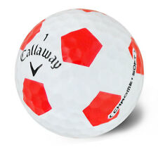 """12 CALLAWAY CHROME SOFT """"TRUVIS"""" RED PEARL/GRADE A GOLF LAKE BALLS FREE DELIVERY"""