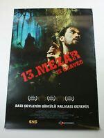 13 GRAVES 2010s Original Turkish Horror Movie Poster C7 Very Rare ONE SHEET