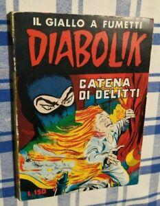 DIABOLIK seconda serie # 26 - CATENA DI DELITTI - ORIGINALE - 27 DICEMBRE 1965