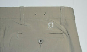 FootJoy Men Performance Stretch Athletic Golf Pants 34x32 Beige Tan EUC B29