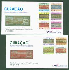 Curacao 2011 - historische Banknoten Geldscheine - Antillen Gulden Nr. 28-37 FDC