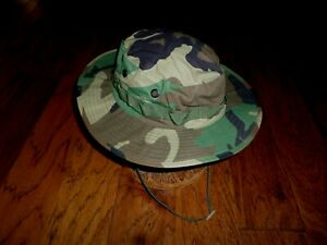 MILITARY STYLE WOODLAND CAMOUFLAGE TYPE II JUNGLE BOONIE HAT