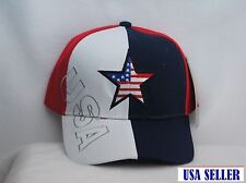 "NEW "" USA FLAG COLORS""  MULTI COLOR BASEBALL CAP/HAT-ADJUSTABLE BACK"