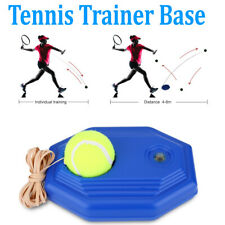 Tennis Ball Back Base Trainer Set with Rubber Elastic Rope for Single Person Usa