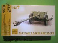 1:72 HäT 8156 WKII Deutschland PAK 36(r) 7,62cm Kanone + Bedienung im Mantel