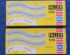 2 x FALLER AMS 4546 4 x SINGLE LANE CURVES BOXED