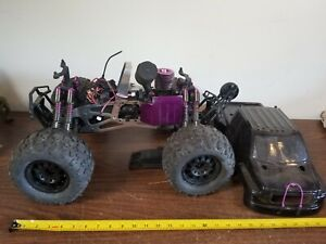 Hpi Savage X 4.6 Nitro Monster 4x4 Truck 1/8 Scale Untested For Parts Custom BLK