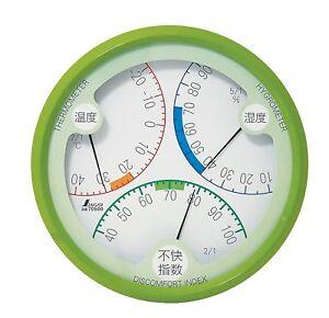 SHINWA Thermometer and Hygrometer Discomfort Index Meter 15 cm R-2 70500