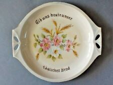 """A Hutschenreuther 11 3/4"""" Oval Serving Platter: Give Us Ours Today Daily Bread"""