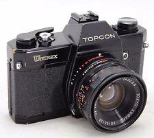 Topcon Unirex black, vintage analog 35mm SLR camera, lens UV Topcor 1:2 50mm