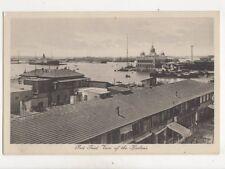 Port Said Harbour Egypt Vintage Postcard 296b