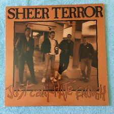 """Sheer Terror - Just Can't Hate Enough - 12"""" LP -1st OOP - NYHC, Madball, SOIA"""