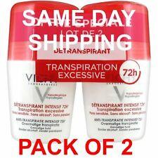 Vichy 72 Hours Excessive Transpiration Deodorant Roll-On - 2 Pack