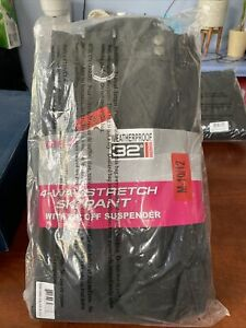 Girls Youth Snow Ski Pants W/ Removable Suspenders M-10/12 NEW. Black