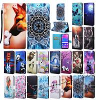 For Huawei Mate 20 Lite P Smart 2019 Y6 2019 Magnetic flip wallet phone case cat