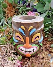 Latex only tiki candle holder mold concrete plaster mould