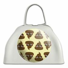 Cute Poop Pattern White Metal Cowbell Cow Bell Instrument