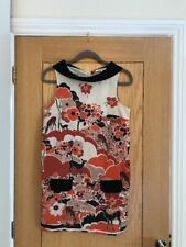 RIVER ISLAND Women's 60s Multi Collared Sleeveless Short Mod Dress Size 8 - NEW