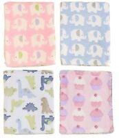 BabyPrem Baby BLANKET Supersoft Cuddly Fleece Cosy Warm Shawl Wrap 100 x 80 cm